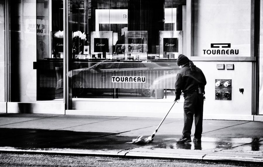 Cleaning Up  New York Hard Job Scenery Shots Monochrome Sisyphos Streetphotography EyeEm Best Shots - People + Portrait Beauty In Ordinary Things