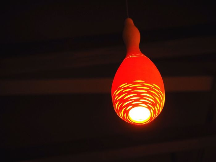 Handmade Backgrounds Japanese Culture Japan Illuminated Lighting Equipment Low Angle View Glowing Orange Color Hanging Electricity  Indoors  No People Light Bulb Light Night Close-up Red Dark Ceiling Light - Natural Phenomenon Electric Light Copy Space Focus On Foreground