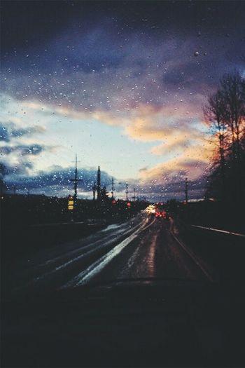 Дождь Дорога хороший вечер...