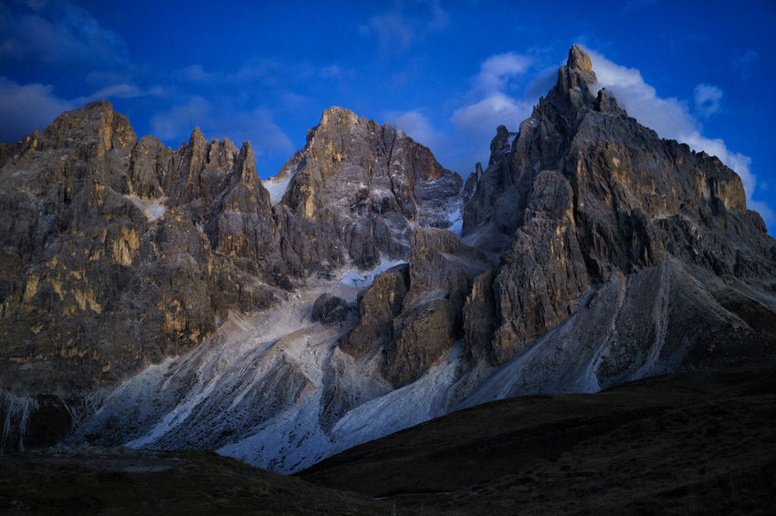 Landscape Mountain Mountain Range Nature No People Physical Geography Sky Stars Star - Space Space Scenics Pale Di San Martino Outdoors North Italy Night Galaxy Constellation Cold Temperature Clouds Astronomy Alps San Martino Di Castrozza Dolomites
