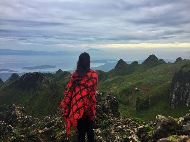 Rear View Mountain Beauty In Nature Nature Real People Scenics Leisure Activity Outdoors Sky One Person Tranquility Landscape Cloud - Sky Women Sea Tranquil Scene One Woman Only Day Young Adult Adult