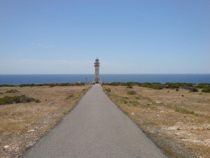 Balearicislands Formentera Horizon Horizon Over Water Ibiza Lighthouse Straight Road Symmetrical Symmetry Theendoftheworld