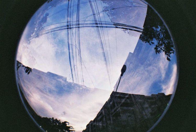 Sky Fish-eye Lens Nature Day Shape No People Cloud - Sky Blue Digital Composite
