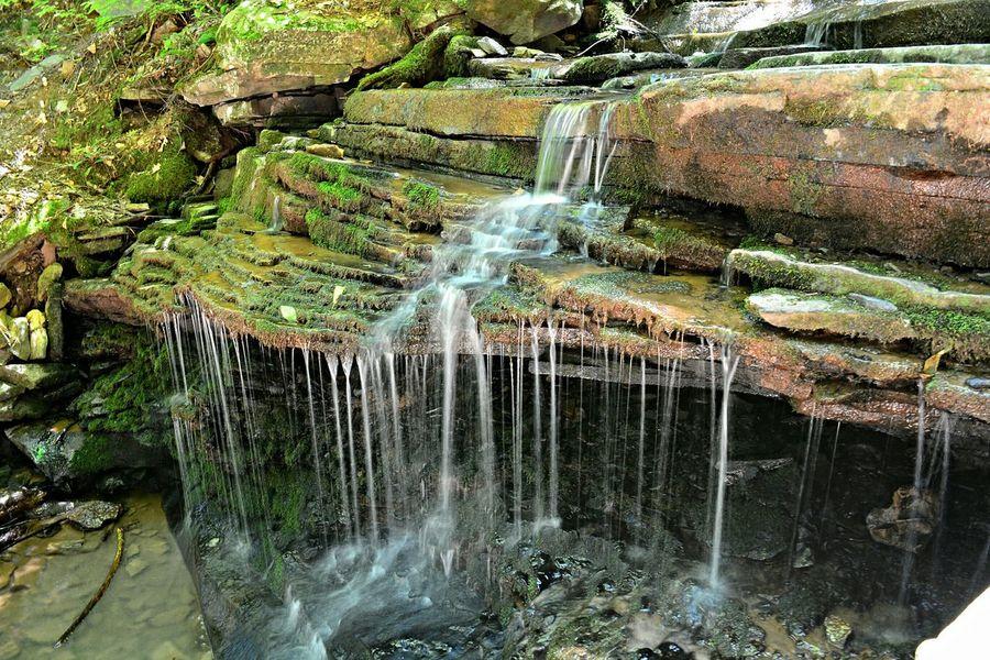 Troughcreekstatepark Pennsylvania Beauty Rainbowfalls Waterfall Statepark Slow Shutter Nikon D7100 Mossy Nature Waterscape