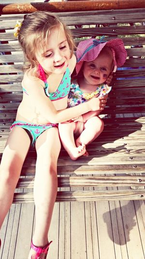 Swimming (: Summer Memories... Sisterly Love❤ Gemma And Arabella