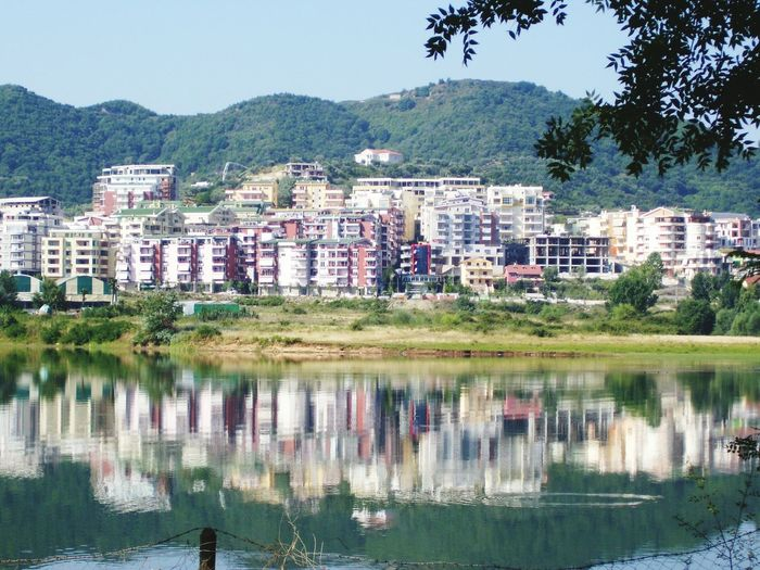 Residential Building House Mountain Cityscape Reflection Building Exterior Water Outdoors No People City Apartment Housing Development Architecture Urban Skyline Day Tree Sky Lake Reflections In The Water ALBANIA❤️ Tirana Hills The Graphic City Colour Your Horizn