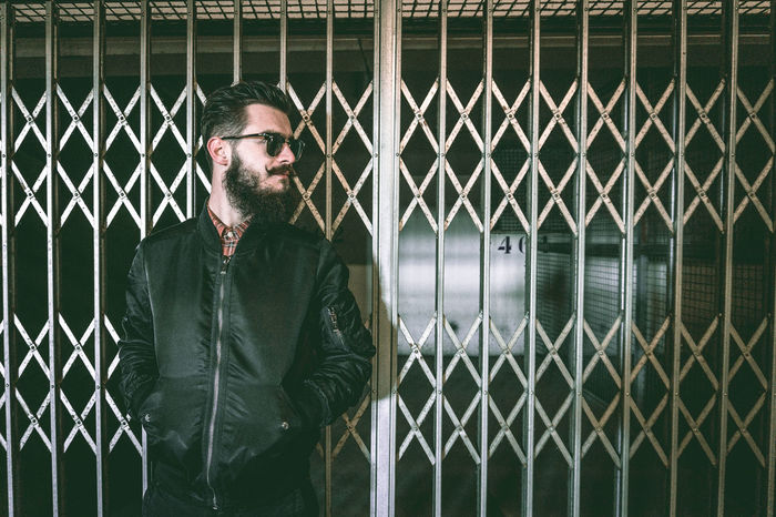 Beard Portrait One Person Cage Prison Real People Eleven Paris RayBans® Avignon Mode Photooftheday Shooting Men Barberlife Portrait Photography Sonyalpha Barbu Frenchphotographer Only Men Theyom Sunglasses Beautiful People