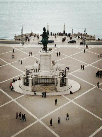 Large Group Of People Sculpture Travel Destinations History Monument Human Representation Lisbon, Portugal