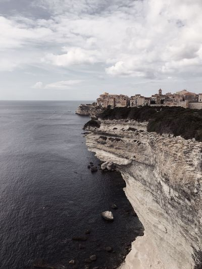 Bonifacio in Corsica, France France Corsica Mediterranean Sea Bonifacio Corse Sea Sky Cloud - Sky Water Land Beach Scenics - Nature Nature Beauty In Nature Tranquil Scene Tranquility Day No People Sand Horizon Over Water Horizon Outdoors