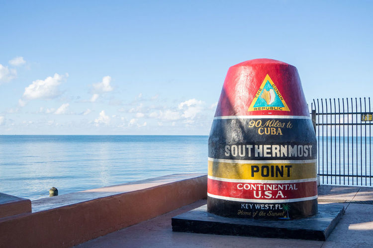 The most southern point at key west Buoy Guidance Horizon Over Water Key West Sea Sky Travel Water
