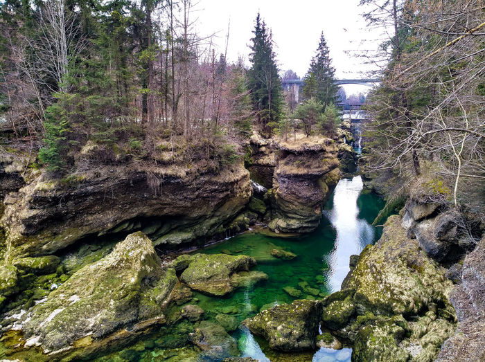 Austrians hidden places Caribic Feeling Felsen Check This Out Beauty In Nature Beautiful Nature Nature Nature_collection EyeEm Best Shots EyeEm Nature Lover Water Stone Trees Austria Traunfall Tree Sky Close-up Rock Flowing Water Rock Formation Geology Canyon Natural Arch