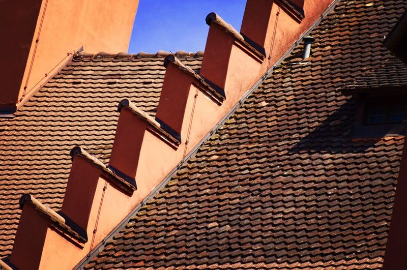 Freiburg Rooftop Colorful Simmetry Color Palette