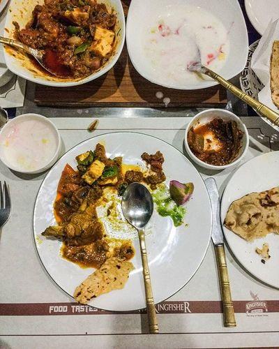 Butter chicken and kadai paneer Pind_balluchi