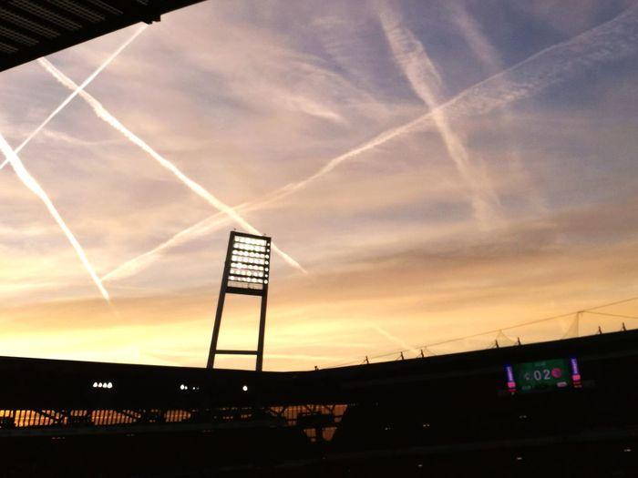 Sport Soccer⚽ Stadium Sunset Sky Dramatic Sky Lovely Weather Cloud - Sky Bremen Weserstadion SV Werder Bremen