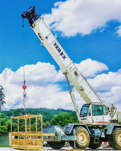 Construction Construction Site Construction Machinery Construction Work Construction Vehicle Construction Equipment Construction Crane Construction Works Heavy Machinery Heavy Equipment Terex Powerful Strong Tough Lifting Things  Lifting Cranes Lifting Heavy Buymyphoto