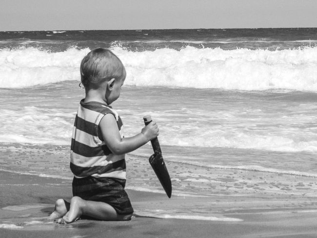 Beach Photography Beachbaby Faces Of Summer Holiday POV Eye4black&white  Blackandwhite Blackandwhite Photography Enjoying Life Capturing Freedom People Watching