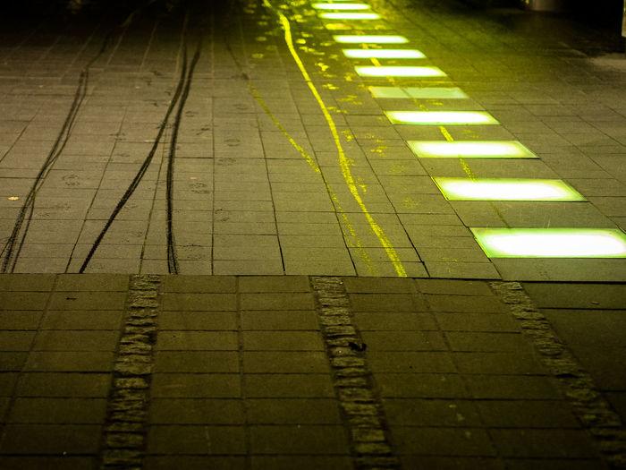Lines Close-up Illuminated Nature Night No People Outdoors Yellow