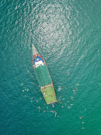 People floating