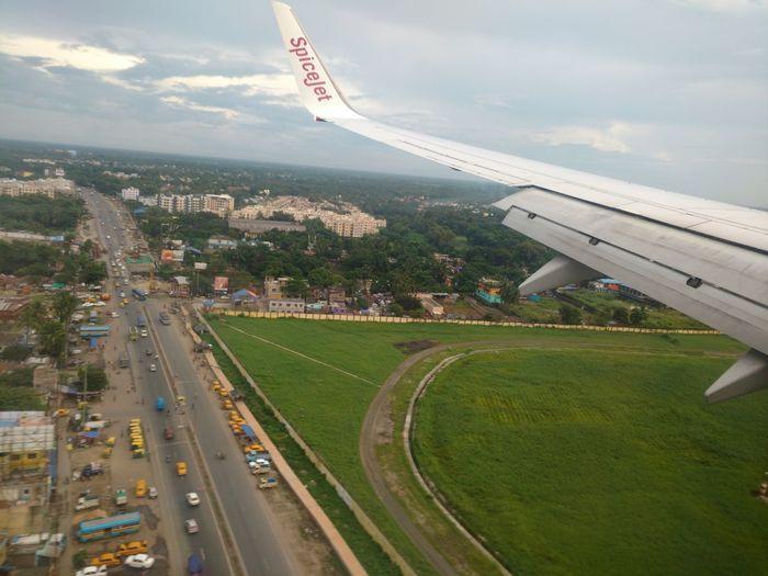 Kolkata City Of Joy Birds Eye View Spicejet Aeroplane In The Sky Aerial View Kolkatacity Kolkata Airport Kolkatasky