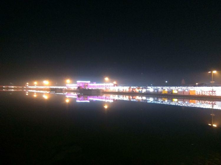 Illuminated Night Reflection