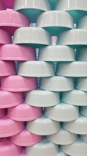 Stack Large Group Of Objects Close-up No People Day Pastel Power Pastel Colored Pastel Pics Routine Life Indoor Photoshoot Halfcircle Pinkpastel