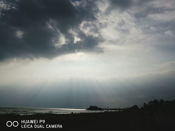 Sky Cloud - Sky Dramatic Sky No People Outdoors Nature P9 Huawei Sri Lanka Matara Horizon Over Water Beach Sea