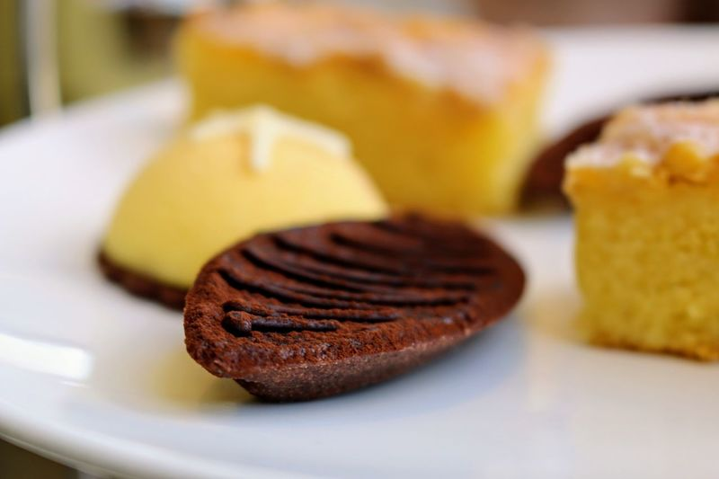 Afternoon Tea Cakes, Sweets, Love It Close-up Day Dessert Focus On Foreground Food Food And Drink Freshness Indoors  Indulgence No People Petit Fours Plate Ready-to-eat Sweet Food Temptation Yellow