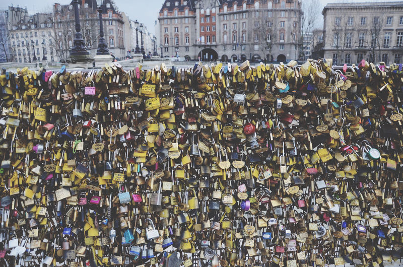 Abundance Architecture Bridge - Man Made Structure Building Exterior Built Structure City Day Hanging Hope Hope - Concept Lock Love Love Lock No People Oath Outdoors Padlock Protection Railing Safety Security Togetherness Unity The Art Of Street Photography