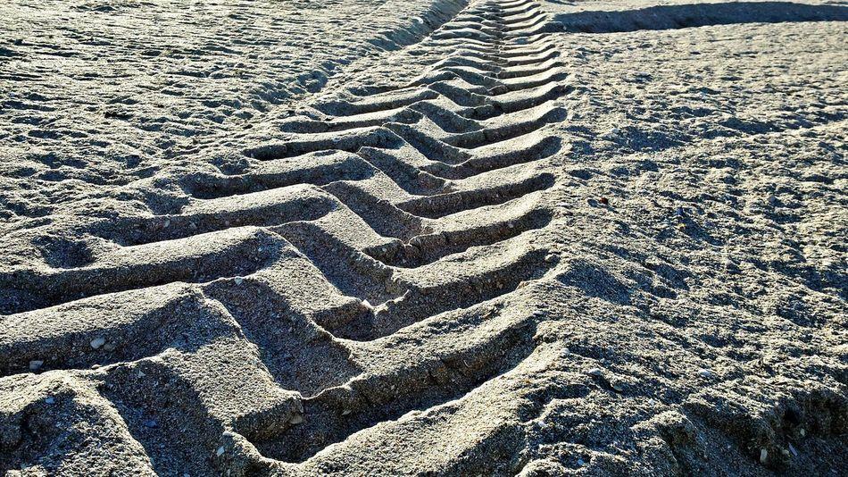 Tracks Sand & Sea Tracks Pattern, Texture, Shape And Form