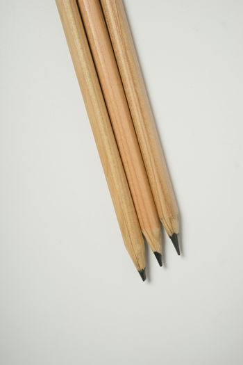 White Background Pencil Arts Culture And Entertainment High Angle View Close-up Wood - Material Brown Still Life