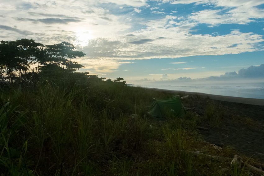 Camping Costa Rica Nature Beach Beauty In Nature Camping On The Beach Jungle Nature Ocean Scenics Sea Sky Sunrise Tranquility Wildlife An Eye For Travel