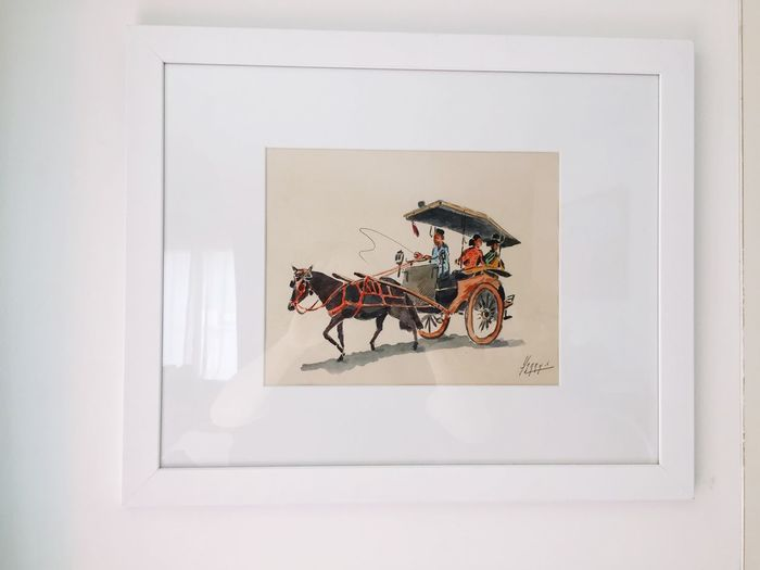 Frame White Background Watercolor Painting Painted Image Indoors