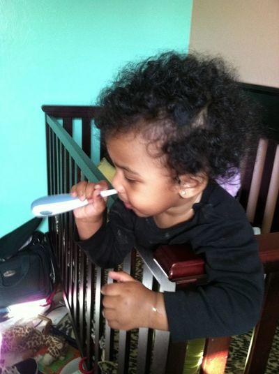 Big Girl Brushin Her Two Teeth