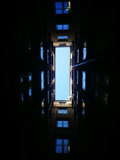 Architecture Indoors  Built Structure City Travel Destinations No People Skyscraper Day Close-up Personal Perspective Luminosity Illuminated High Angle View Buildings Building Exterior Symmetry Streetphotography Street Hide Sky Blue Sky Ghetto Trieste TriesteSocial Triestestreetlife