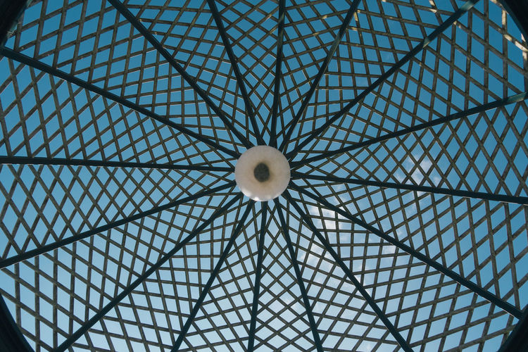 Low Angle View Of Geometric Ceiling