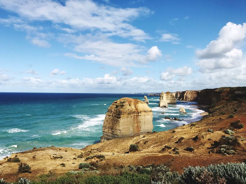 Sea Sky Tranquility Cloud - Sky Horizon Over Water Nature Scenics Tranquil Scene Beauty In Nature Outdoors Idyllic Day Travel Destinations Water No People Beach Architecture 12 Apostles