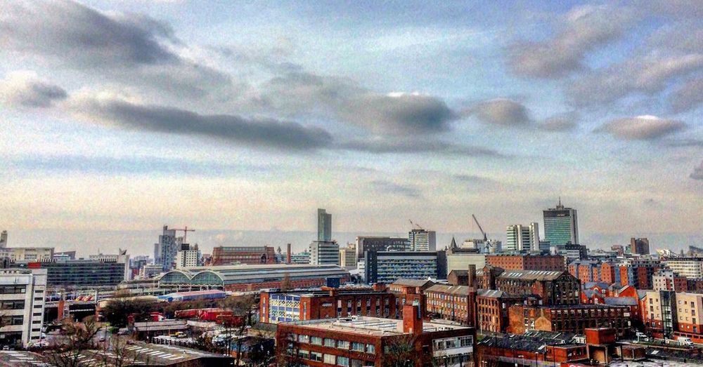 Manchester UK Cityscape Rooftop View  Manchester Cityviews Check This Out Taking Photos Clouds And Sky EyeEm Best Shots