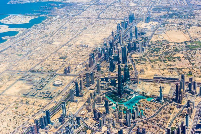 AirPlane ✈ Burj Khalifa, Dubai Burj Khalifa Aerial View Of Dubai Built Structure Architecture Travel Travel Destinations High Angle View Building Exterior Aerial View No People