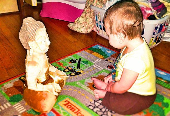 Mediation Meditation Buddies My First Buddha Quiet Time Deep Breathing Zen Baby Photo