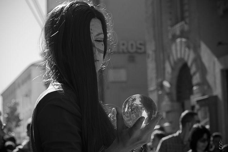Waiting Lucca comics....... Bianco E Nero Biancoenero Black & White Black And White Black And White Collection  Black And White Photography Black And White Portrait Black&white Blackandwhite Blackandwhite Photography Blackandwhitephotography Eye4photography  EyeEm Gallery Mask One Person TheWeekOnEyeEM