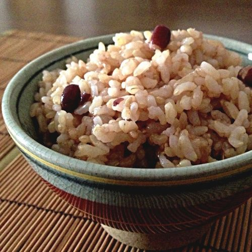 Genmai rice and Azuki Beans for lunch