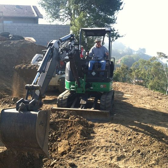 Got to try out my Skills  on the Mini Excavator today. I love Fridays