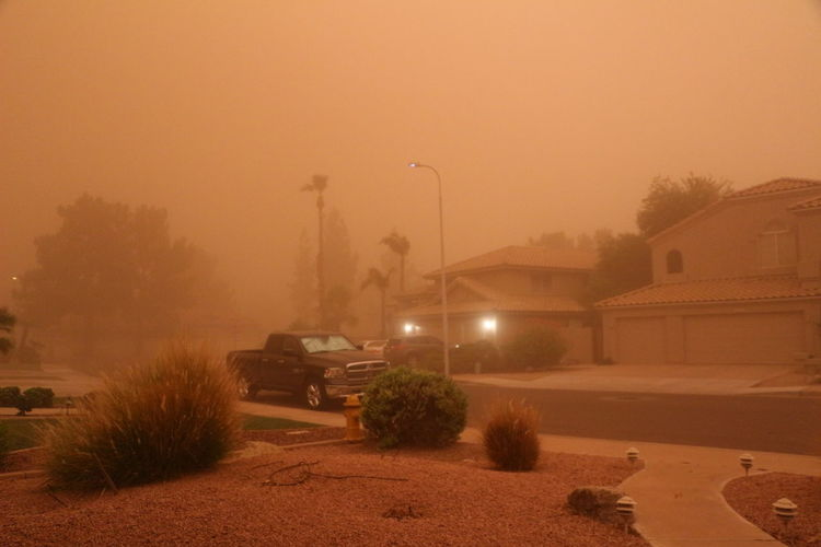 2018 Arizona Natural Storm Weather Dust Dust Storm Haboob Natural Phenomenon Nature Phoenix Sand Sky Street