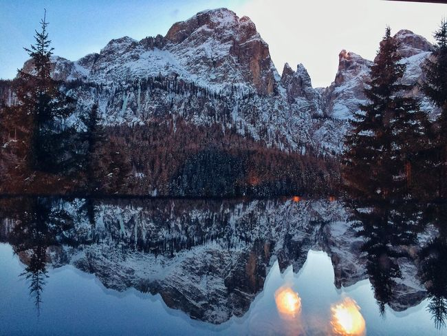 Sun Winter Cold Temperature Mountain Reflection Nature Beauty In Nature Day Sky No People