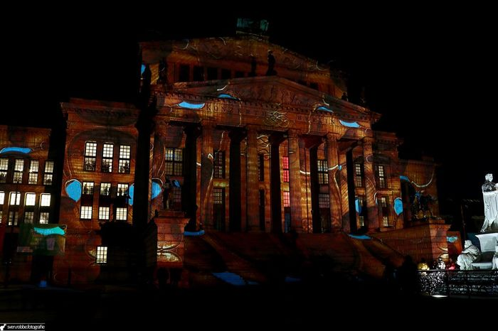 Architecture Berlin City Famous Place Festival Of Lights History Illuminated Konzerthaus Berlin Night Outdoors Violins