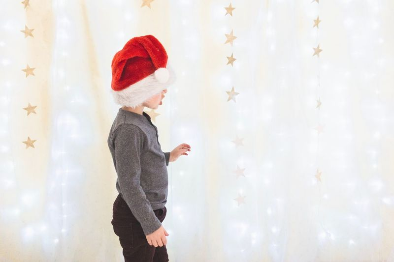 Santa Scottish Highlands Family Christmas Toddler  Stars Lights EyeEm Selects Childhood Child Hat One Person Clothing Offspring