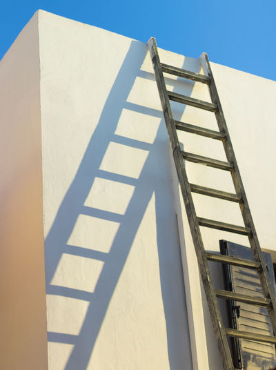 Analipsi Diagonal Ladder Architecture Building Exterior Built Structure Crete Day Greece Heraklion Hersonissos Low Angle View No People Outdoors Shadow Shadows Sky Staircase Steps Steps And Staircases Sunlight