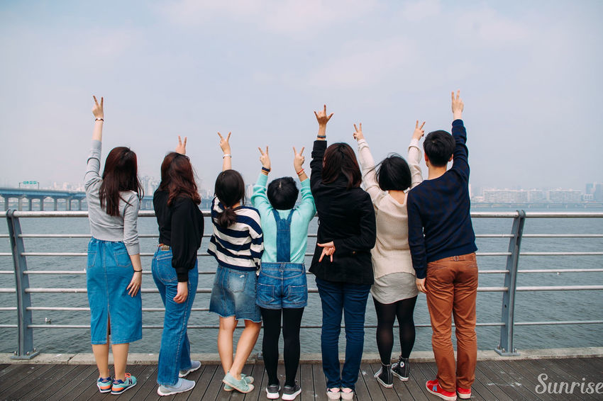 These are my Friends Check This Out Classmates From The Back Hangang River THESE Are My Friends