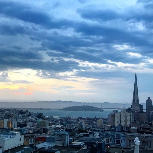 Storm over the bay Bay Area Cityscape Colour Your Horizn San Francisco Skyline Stormy Weather View From The Top Architecture Bluesky Cityscape Nature Sunset #sun #clouds #skylovers #sky #nature #beautifulinnature #naturalbeauty #photography #landscape Travel Destinations Urban Landscape Waterfront