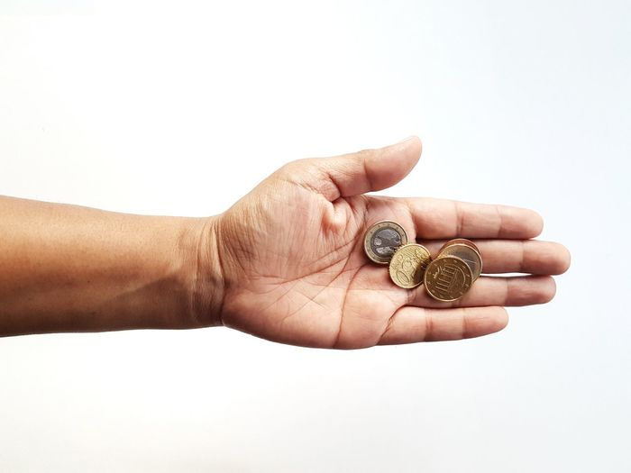 The Week on EyeEm Picoftheday Pictureoftheday Money Money Money Money Holding Holding On Holding Hands Finance And Economy Human Hand White Background Time Studio Shot Close-up Coin Money Coin Bank Currency Euro Symbol European Union Coin